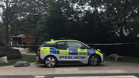 Part of Woodberry Wetlands is taped off as police investigate an alleged rape