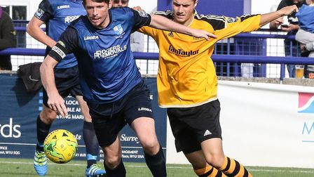 Wingate's Sean Cronin in action against Merstham (pic Martin Addison)