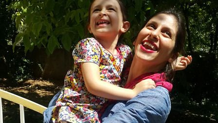 Nazanin Zaghari-Ratcliffe reunited with daughter Gabriella following her temporary release on Thursd