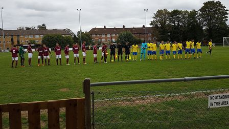 Potters Bar Town entertained Haringey Borough at the Pakex Stadium in the Bostik Premier Division.