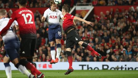 Tottenham Hotspur's Harry Kane scores his side's first goal of the game during the Premier League ma