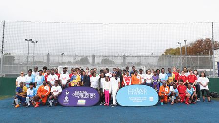 Tottenham Hotspur hosts soccer tournament in memory of knife crime victim Godwin Lawson. Picture: To