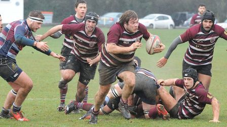 UCS Old Boys in action in Herts/Middlesex One last season (pic: Nick Cook)