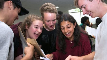 GCSE results day at Mossbourne Community Academy. Photo by Gary Manhine/Hackney Council