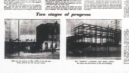 Photos of the site of the Gazette's former office - the first in May 1956 as the site was being clea