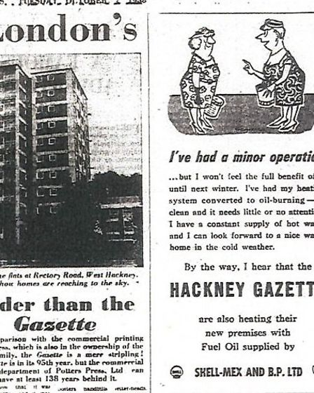 An ad from oil supplier congratulating the Gazette on its new premises