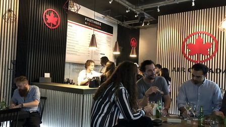 Air Canada's Poutinerie in Spitalfields Market. Picture: Emma Bartholomew