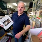 Alan Dobrin at his shop Alan's Records, East Finchley, which is still going strong after 24 years. P