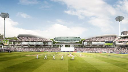 How the new stands at the Lord's Cricket Ground will look, if the application is passed by Westminst