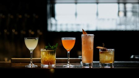 Chops come washed down by cocktails like these from Slowly Shirley. Image: Rebecca Hope