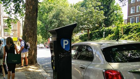 A conman scammed money from a driver using a parking machine in July. Picture: Sam Volpe