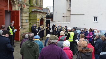 The Walk of Witness took place in Lowestoft on Good Friday. Picture: Mick Howes