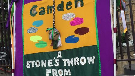 The 'A Stone's Throw From Westminster' exhibition celebrates a centenary of women's suffrage. Pictur
