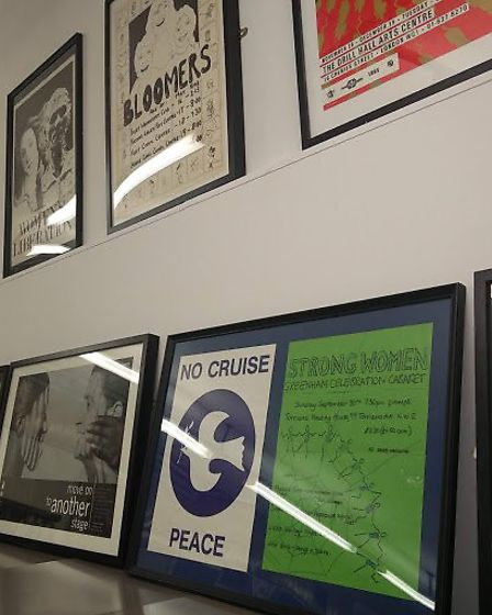 Women's Liberation posters from the 1970s and 80s at the Camden archives. Picture: Sam Volpe