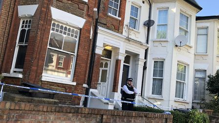 Police forensics teams are still investigating at the house in Wilderton Road where DJ Elyon Poku wa