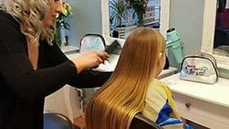 Imogen Loud has donated a large amount of her hair to the Little Princess Trust. Picture: Amanda-Mar