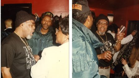 Jah Bunny with his hero Lloyd Knibbs when the Skatalites toured the UK