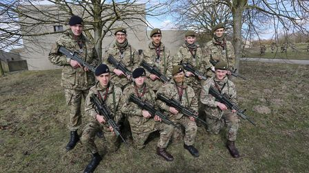 B Company Cadets from Lowestoft, Bungay and Beccles provided the muscle for Team Suffolk to secure s