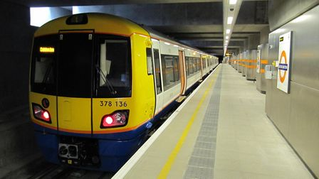 An Overground train at Dalston Junction. The line will run at night from next month. Picture: Justin