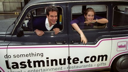 Brent Hoberman and Martha Lane Fox from lastminute.com in January 2000. Photograph: Sean Dempsey.