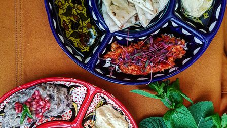Dips and flatbread from the What the Fattoush? menu. Picture: What the Fattoush?