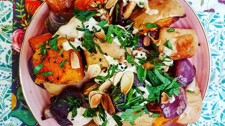Roasted butternut squash with sage and almonds from Pamela's pop-up kitchen. Picture: What the Fatto