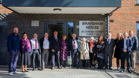 Members of the late Peter Brayshaw's family, alongside councillors and former councillors as a new c