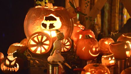 Last year's giant pumpkin which was turned into Cinderella's coach at the Dalston Eastern Curve fest