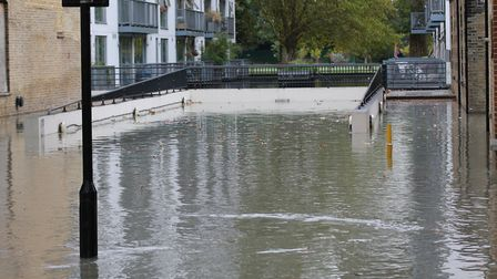 Floods in Clapton on Wednesday morning. Picture: Paul Wood
