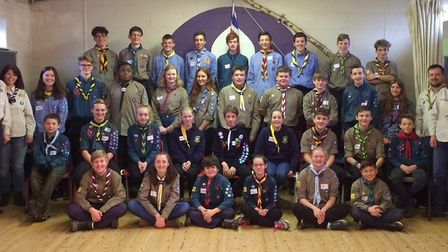 Scouts from Norfolk and Suffolk due to go to the World Scout Jamboree in 2019. PICTURE: Amy Morfitt