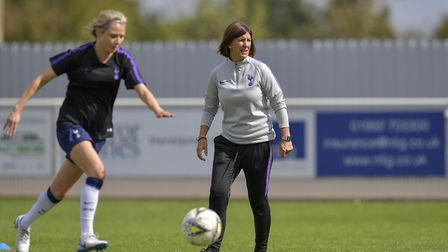 Tottenham Hotspur Ladies boss Karen Hills watches on (pic: Wu's Photography).