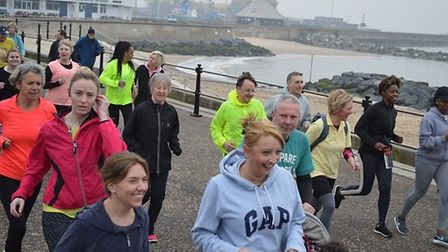 Staff from Norfolk and Suffolk NHS Foundation Trust take part in the parkrun. Picture: Hadyn Everso