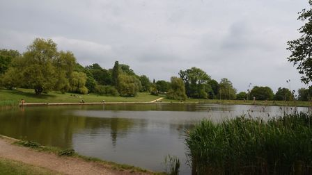 The model boating pond. Picture: Ken Mears