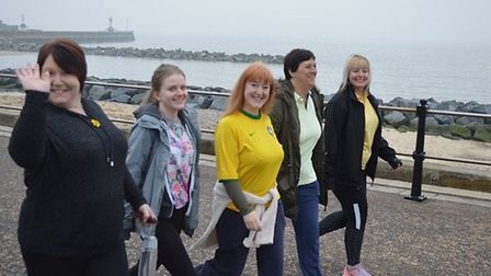 Staff take part in the Lowestoft parkrun. Picture: Hadyn Everson
