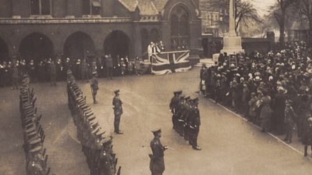 Attendees at the Remembrance Day parade in Highgate in 1921. Picture: St Michael's Church/Highgate S