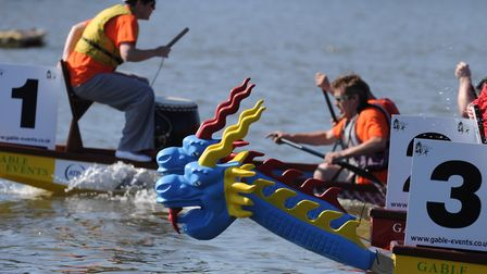 Racing at a previous East Anglian Dragon Boat Festival. Picture: Gable Events.