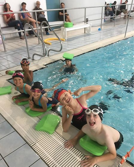Youngsters at Hackney Aquatics Club which takes on members aged seven upwards