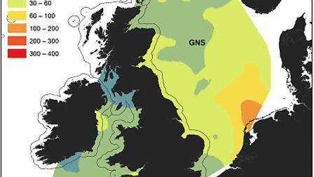 A Cefas map charting the plastic litter found in 2011. Image: CEFAS