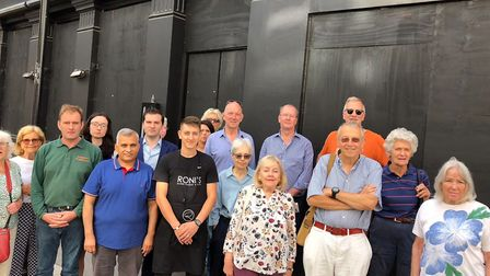 Residents and councillors outside the former XO restaurant that was set to become a Co-op in Belsize