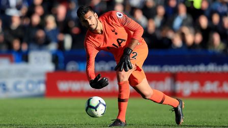 Tottenham Hotspur goalkeeper Paulo Gazzaniga during the Premier League match against Huddersfield To