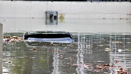 A car completely underwater. Picture: Kriss Lee