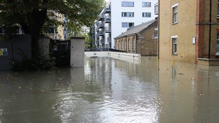 The underground car park at Paradise Park was completely flooded. Picture: Kriss Lee