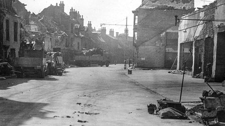 Bomb damage in Lowestoft. Picture: Jack Rose Old lowestoft Society.