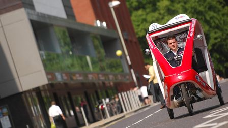 Pedicabs such as this one may soon need a new type of licence in Waveney. PHOTO: ANTONY KELLY