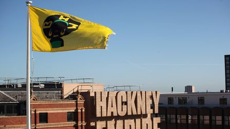 Malaika Parillon Langlais Baron's winning black history month flag design is flying above Hackney To