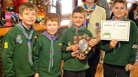 The winners of the ten pin bowling competition. Picture: Mick Howes