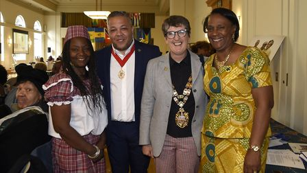 Speaker of Hackney Clare Potter joins guests at the Windrush Tea Party. Picture: Adam Holt/ Hackney