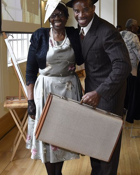 Hermal Wilson and her son Weininger dress up in Windrush style clothes. Picture: Adam Holt/ Hackney