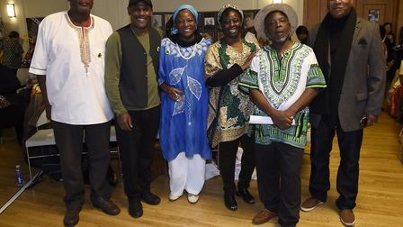 House of Amau poets who performed at the Windrush Tea Party. Picture: Adam Holt/ Hackney Council