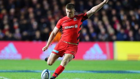 Saracens' Owen Farrell kicked 20 points against Harlequins (pic: Mark Kerton/PA)
